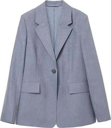COS linen tailored blazer | 40plusstyle.com