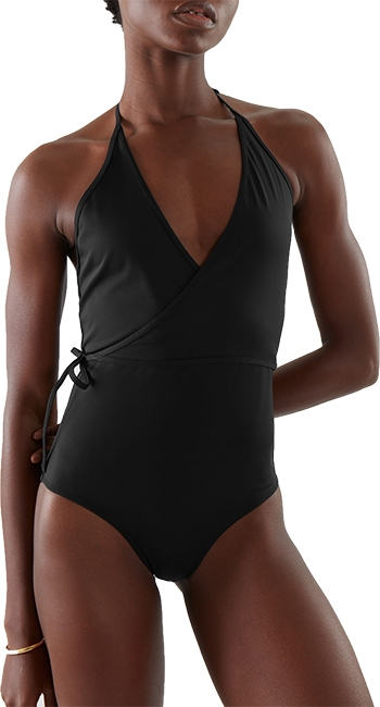 COS Wrap-Over Swimsuit   40plusstyle.com