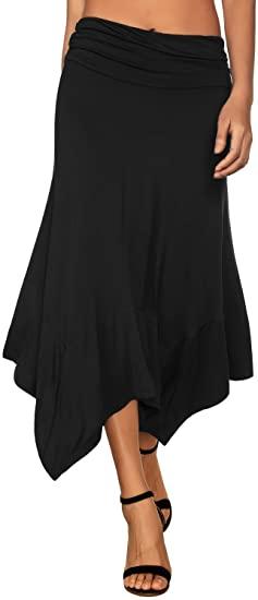 DJT handkerchief hemline midi skirt | 40plusstyle.com