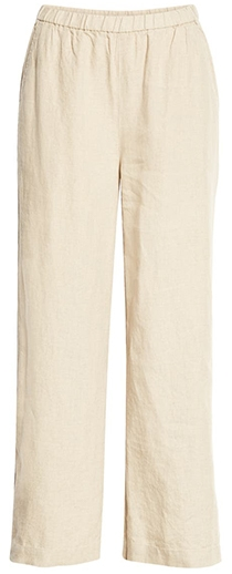Pants to hide a belly - Eileen Fisher straight leg linen pants | 40plusstyle.com