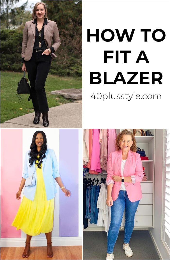 How to fit a blazer | 40plusstyle.com