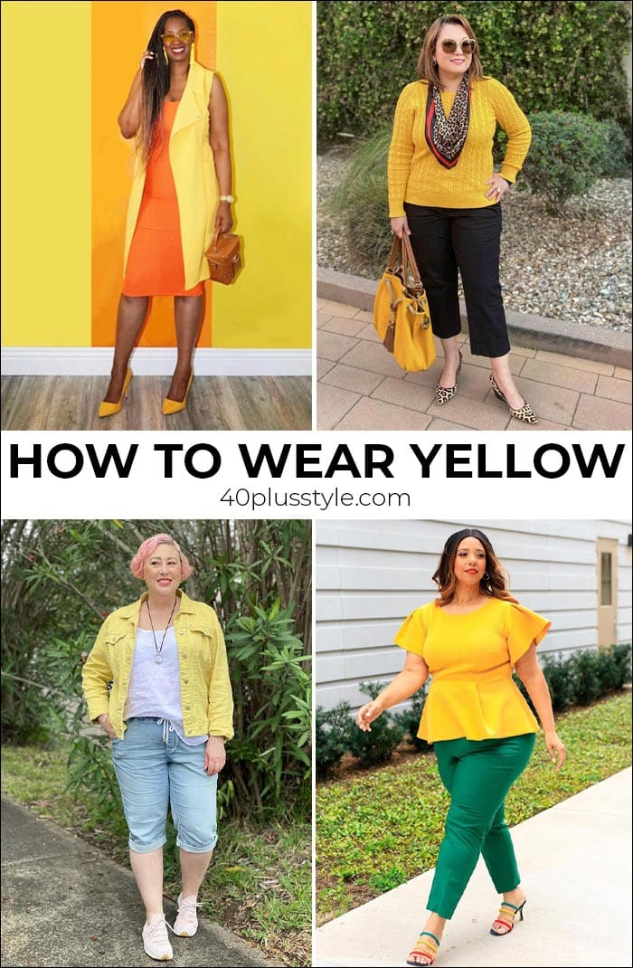 How to wear yellow and brighten up your day   40plusstyle.com