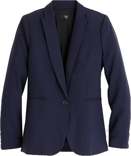 J.Crew blazer in Italian stretch wool | 40plusstyle.com