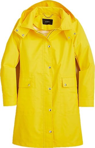 J.Crew classic raincoat | 40plusstyle.com
