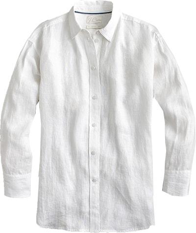 J.Crew linen shirt | 40plusstyle.com