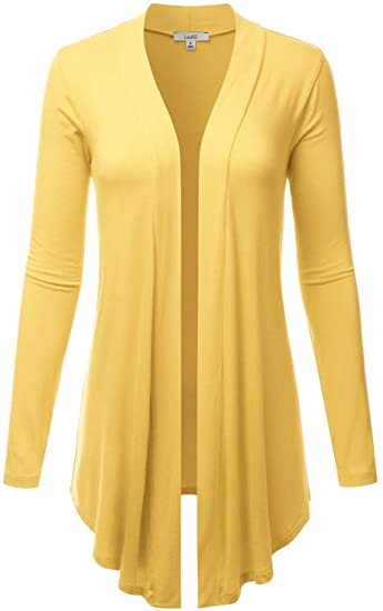 LALABEE open front draped cardigan | 40plusstyle.com