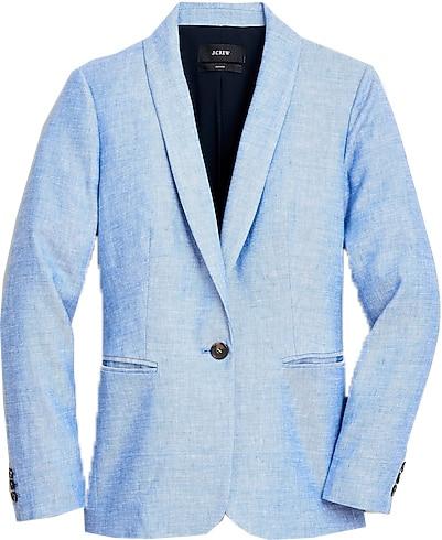 J.Crew blazer in stretch linen | 40plusstyle.com