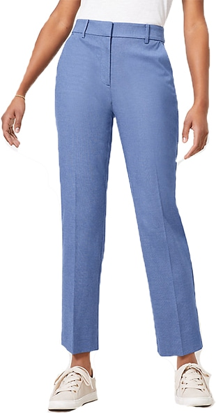 LOFT Tall curvy straight pants in stretch double weave | 40plusstyle.com