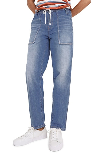Madewell relaxed pull-on jeans | 40plusstyle.com