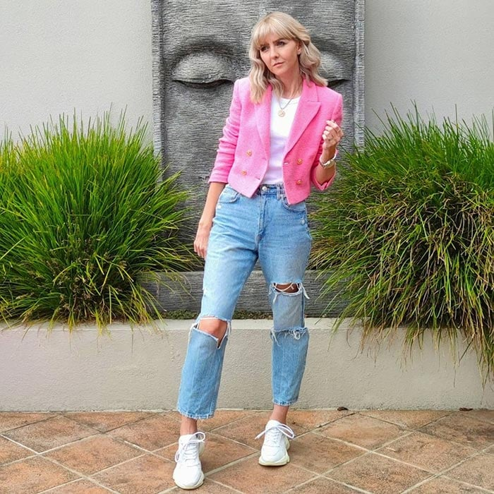 How to fit a blazer - Melissa in a cropped blazer | 40plusstyle.com