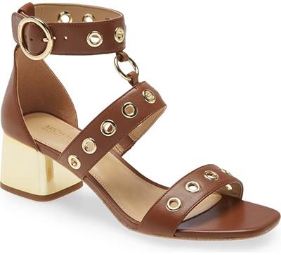 Michael Kors 'Amos' Block Heel Sandal   40plusstyle.com