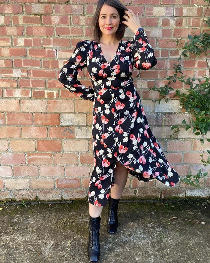 A wrap dress is a good style for the hourglass   40plusstyle.com