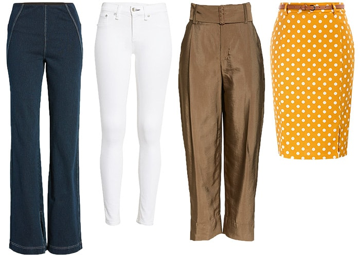 Pants, jeans and skirts for the hourglass body shape   40plusstyle.com