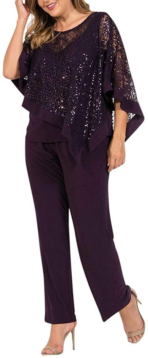 R&M Richards formal poncho pant suit | 40plusstyle.com