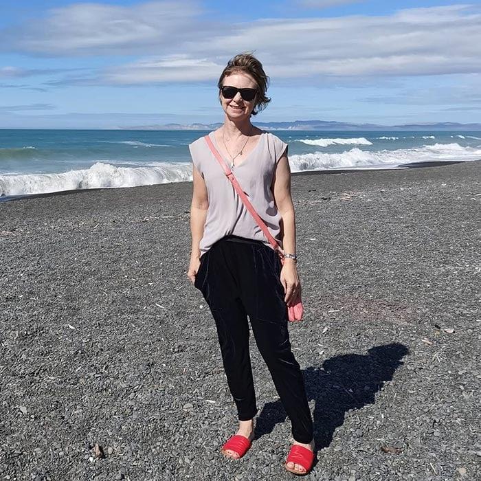 Best women's sandals - Rachel in red slip ons   40plusstyle.com