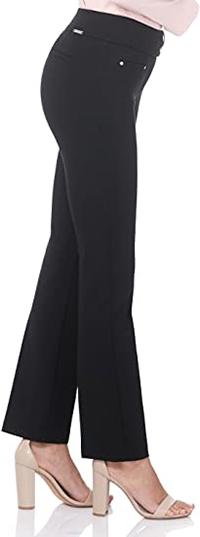 Rekucci Secret Figure pull-on knit straight pants   40plusstyle.com
