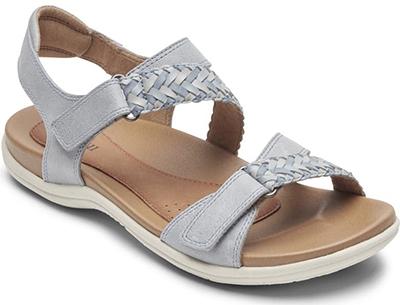 Best womens sandals - Rockport Cobb Hill 'Rubey' Woven Strap Sandal   40plusstyle.com