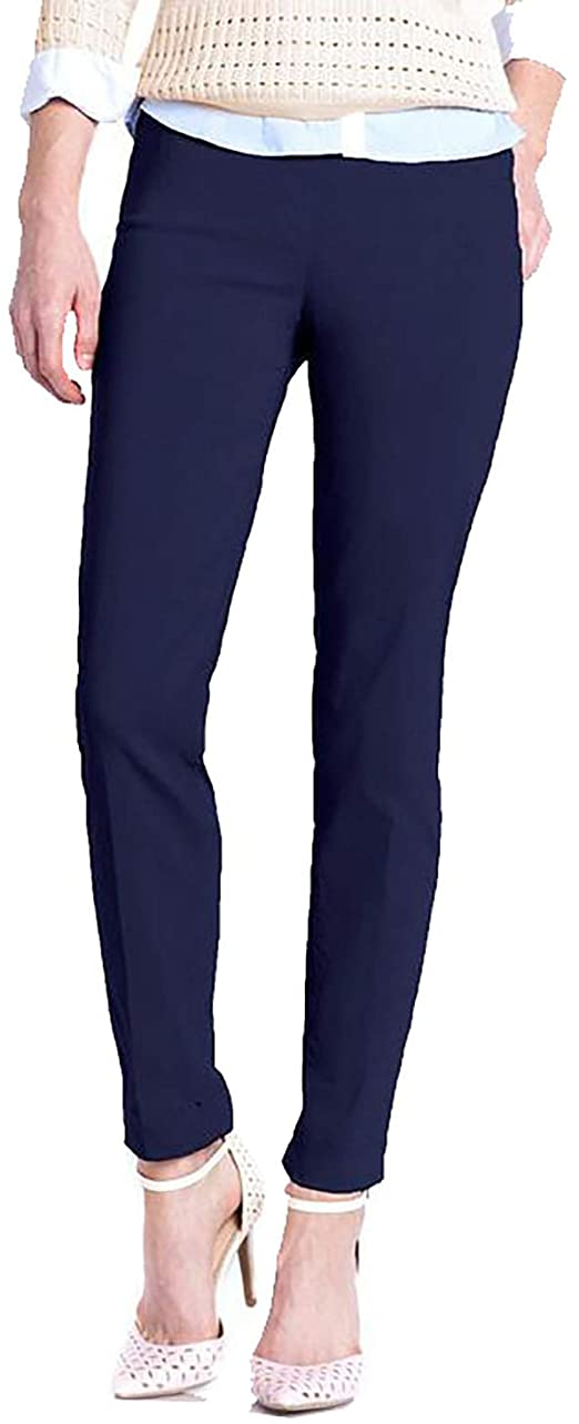 SLIM-SATION wide band pull-on ankle pants | 40plusstyle.com