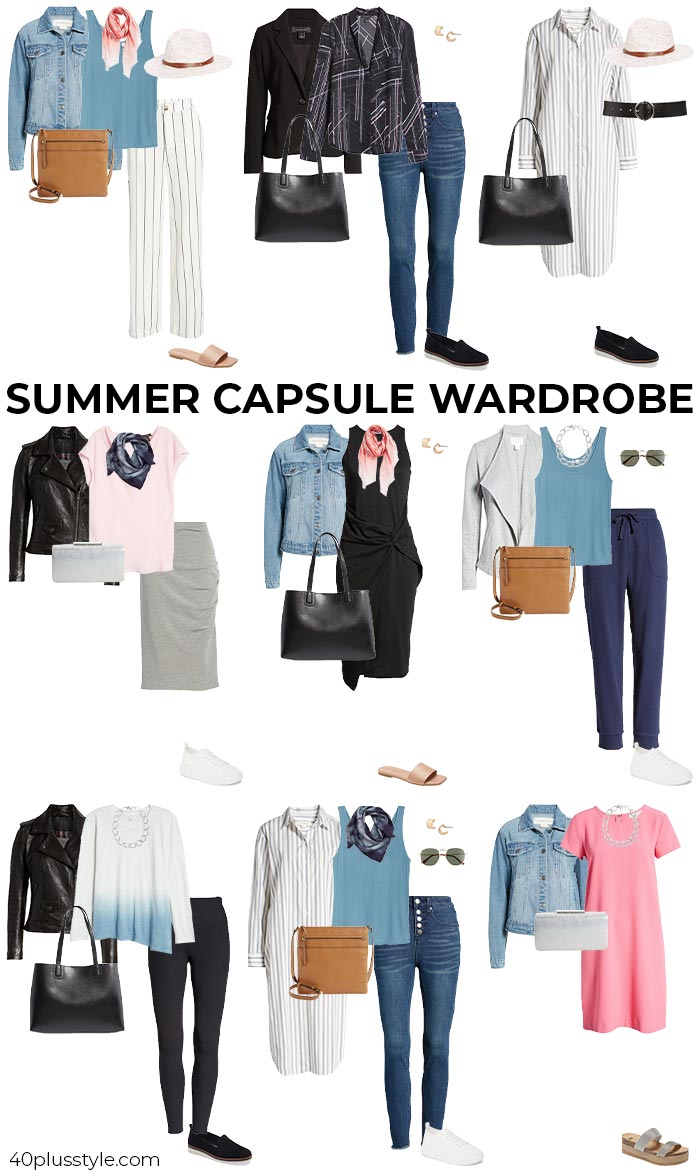 A summer capsule wardrobe   40plusstyle.com