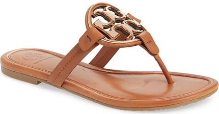 Tory Burch Metal Miller Sandal   40plusstyle.com