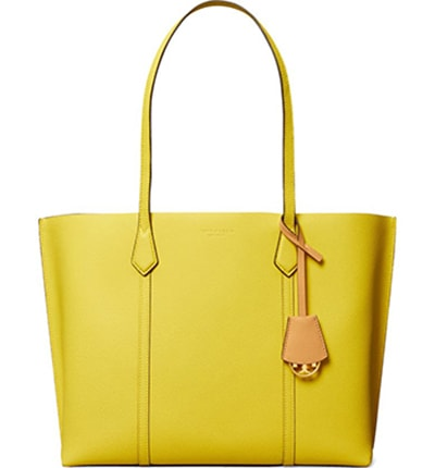 Tory Burch leather tote   40plusstyle.com