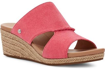 UGG 'Eirene' Espadrille Wedge Slide Sandal   40plusstyle.com
