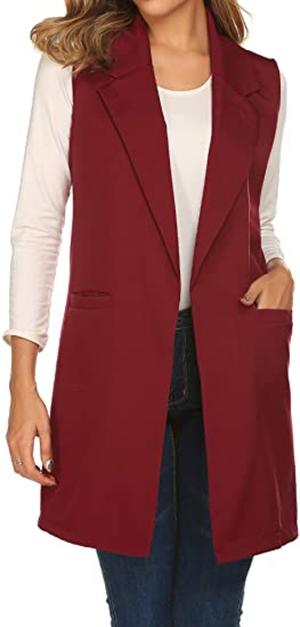 Showyoo vest blazer | 40plusstyle.com