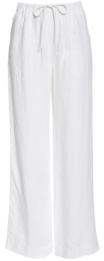 Pants to hide a belly - Vince tie waist pants | 40plusstyle.com