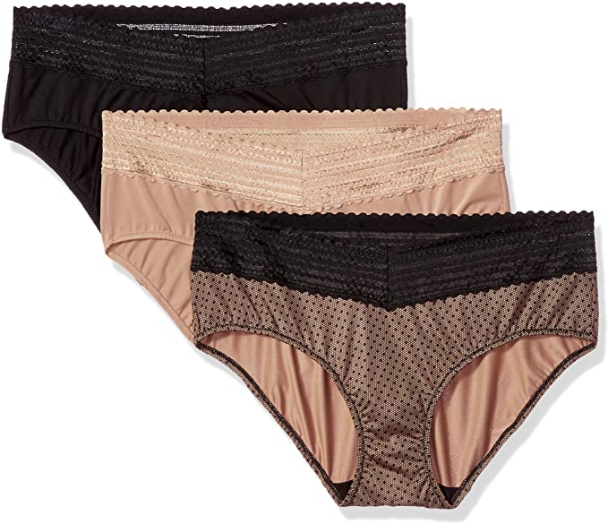 Most comfortable women's underwear - Warner's no muffin top 3-pack hipster panties | 40plusstyle.com