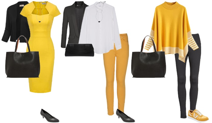 Black and yellow outfits   40plusstyle.com