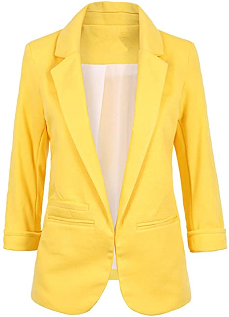 Lrady casual open front blazer   40plusstyle.com