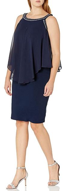 Dresses to hide a tummy - Alex Evenings popover dress   40plusstyle.com