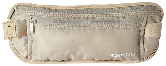 Amazon Basics RFID travel waist belt fanny pack | 40plusstyle.com