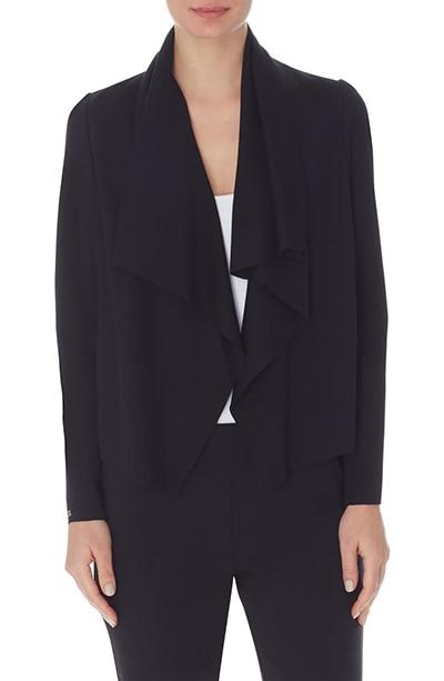 Anne Klein Drape Front Jacket   40plusstyle.com