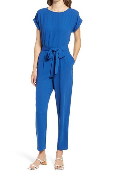 Halogen Short Sleeve Jumpsuit | 40plusstyle.com