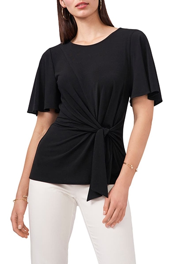Nordstrom half yearly sale - Chaus Tie Front Drape Top   40plusstyle.com
