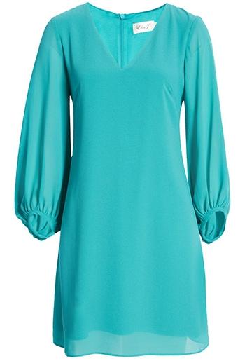 Eliza J chiffon shift dress   40plusstyle.com