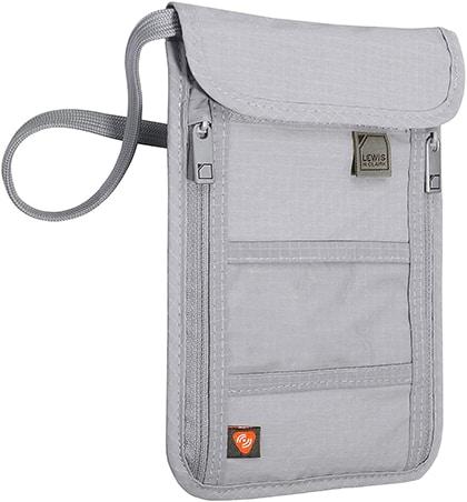Lewis N. Clark RFID blocking stash neck wallet   40plusstyle.com