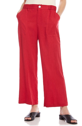 Karen Kane Crop Wide Leg Pants | 40plusstyle.com