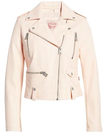 Levi's Faux Leather Moto Jacket   40plusstyle.com