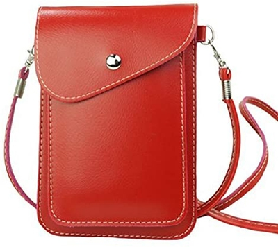 hite Cloud vegan leather crossbody phone purse | 40plusstyle.com