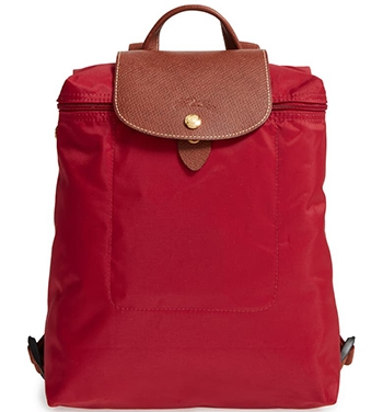 Best travel bags - Longchamp backpack | 40plusstyle.com