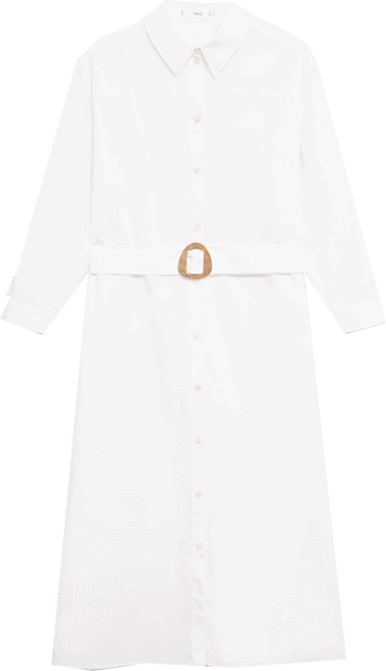 MANGO belt dress   40plusstyle.com