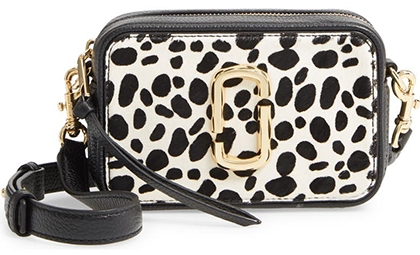 The Marc Jacobs The Softshot 17 Genuine Calf Hair & Leather Crossbody Bag | 40plusstyle.com