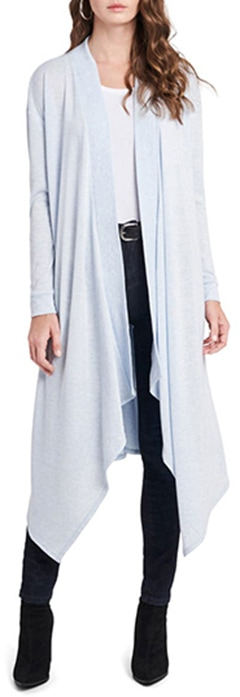 Nordstrom half yearly sale - 1.STATE Drape Front Maxi Cardigan   40plusstyle.com