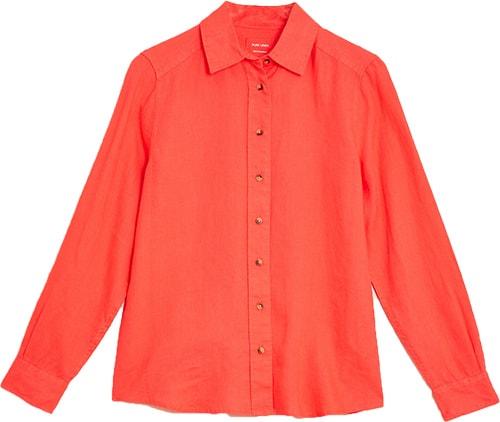 Marks & Spencer pure linen shirt   40plusstyle.com