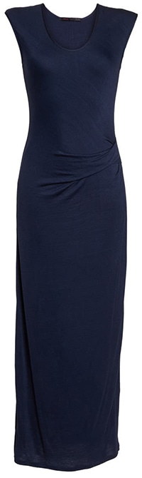 Fraiche by J ruched jersey maxi dress | 40plusstyle.com