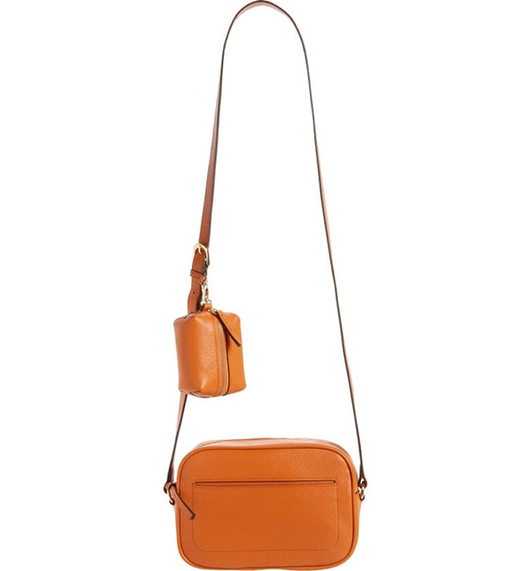 Nordstrom crossbody bag with accessory pouch |  40plusstyle.com