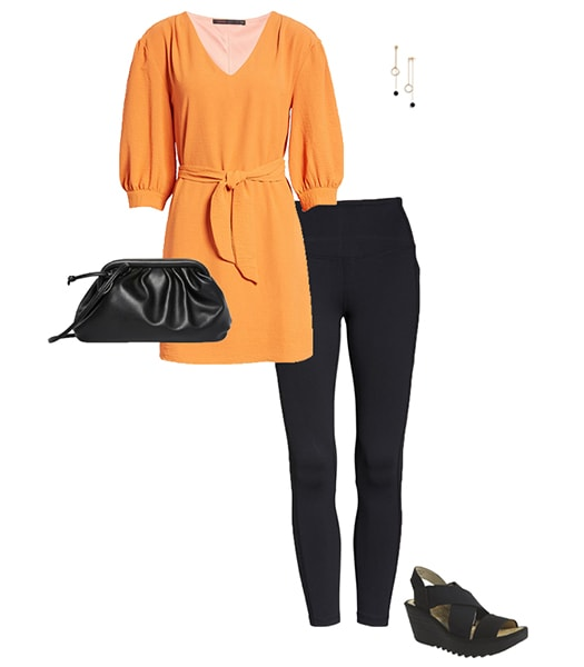 Orange and black outfit   40plusstyle.com