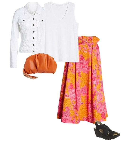 Pink and orange outfit combination   40plusstyle.com